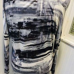 CAbi Tops - CAbi Black Gray White Long Tunic / T / Cover up